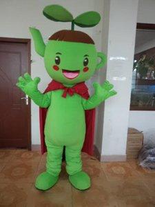 Хэллоуин чайник мальчик костюм талисмана высокое качество мультфильм зеленый микроб аниме тема характер Рождество карнавал партия необычные костюмы