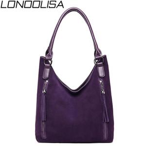 New Ladies Suede Leather Hand Bags Elegant Luxury handbags Women Bags Designer Fashion Tassel Shoulder For Women 2019