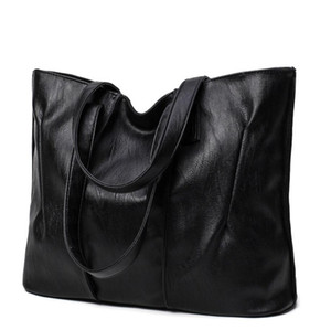 European and American Style Fashion Black, Red Big Bag Tote 2020 New Female Ladies Shoulder Bag Casual Handbag
