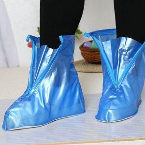 THINKTHENDO Reusable Unisex Women Men Waterproof Protector Boots Cover Rain Shoes Anti-Slip PVC Rain Shoes 2018 New