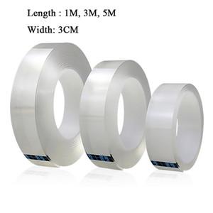 Cinta multifunción acrílico Nano mágica reutilizable cinta de doble cara adhesiva pegajosa Traceless fuerte Gel Grip Tape Dropshipping