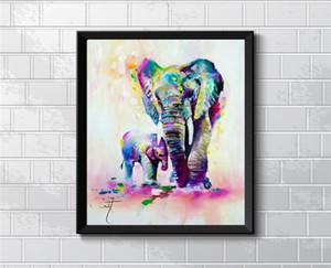Animal Elephant Son, peinture sur toile HD Home Decor Art Painting / (Sans cadre / encadrée)