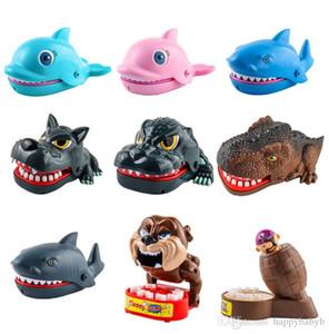 Loup Crocodile dentiste Jouets jouets dents de requin dinosaure gros doigts de morsure de la bouche jouet interactif jouet animal en plastique pour les cadeaux enfants