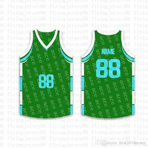 Top Custom Basketball Jerseys Mens Bordado Logos Jersey Envío Gratis Barato al por mayor Cualquier nombre cualquier número Tamaño S-XXL kf55
