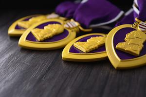 Americano do exército dos EUA medalha de coração roxo Medalha de Qualidade Superior no peito cllection medalhas no peito com caixa de fita Decoração