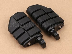 Black Rubber Billet Rear Front Foot Pegs For Dyna Road King Sportster XL Electra Glide Fatboy Heritage Softail Low Glide