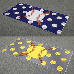 28,7 * 60Inches Football Grande Micorfiber Serviette de bain de base-ball Serviettes de plage pour adultes Plage Camping Douche jupe portefeuille Towe ELE212