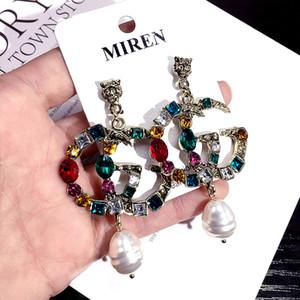 Designer European Fashion Letters G Ohrringe Gold Silber Überzogene Ohrstecker Double-G Earddrop Für Frauen Mädchen Partei Schmuck