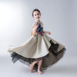 Mädchen Model Show Kleider Kinder Host Abendkleider Blumenkind Prinzessin Rock Peng Shan Piano Performance Dresses