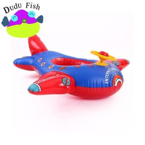 Wholesale-Fashionable Children Ship Inflatables Tubes Soft Inflatable Seat Big Aircraft Children Swimming Ring Convenient For Carry 18 5md X