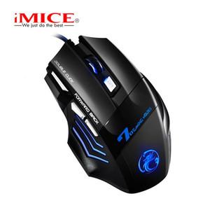 New iMICE X7 Ratos Wired Gaming Mouse 7 Botões Mice 2400dpi LED óptico com fio Cabo Gamer computador para PC Laptop