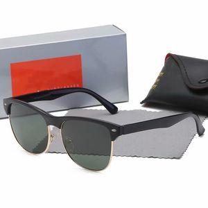 2020 hot new high quality fashion men retro sunglasses gun metal frame green 58mm glass lens UV400 protection black case 4175