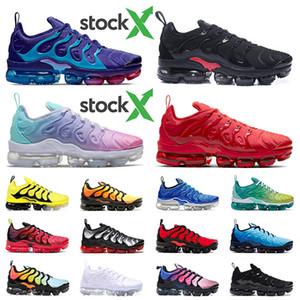 Original TN PLUS BIG Tamanho 13 STOCK X Running Shoes 2020 Chegada nova das mulheres dos homens de luxo Designer tênis preto de ouro luz Trainers atuais