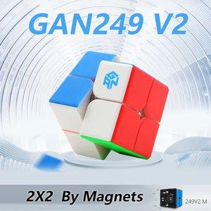 Gan 249 V2 M 249m Magnetic Cube Stickerless Cube velocidade Mágico 2x2x2 enigma competição Toy Cubo Campeonato WCA 2x2 por ímãs Y200428
