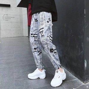 Hommes refroidissent Hip Hop Pantalons Amine Imprimer Pantalon Crayon taille élastique piste pantalons homme Mode Joggers Sweatpants
