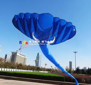 YENİ 4m tek satır Dublör mavi Filler GÜÇ Spor Uçurtma açık oyuncaklar