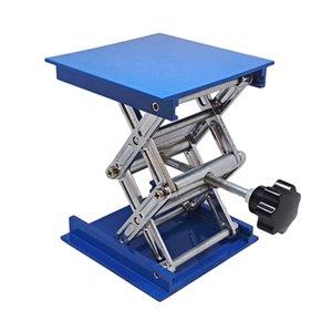 4X4 '' de aluminio manual de laboratorio Jack levantar óptico deslizante plataforma de la etapa azul de elevación vertical Manual etapa de traducción