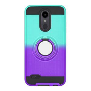 2 in 1 Telefonkasten für LG Aristo 2 X210 LV3 II Tribut Dynasty K8 2018 US 2019 neuesten heißen Telefonkasten Farbgradienten 360-Grad-Drehring
