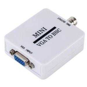 VGA к BNC скалер адаптер HD видео композитный конвертер VGA на BNC AV / CVSB L / R Видео 1080P Мини конвертер Поддержка NTSC PAL