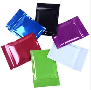 Farbige Heat Seal Aluminiumfolienbeutel Mylar Folienbeutel Geruch Beweis-Beutel geöffnet oben Verpackung Beutel Kaffee-Tee-Cosmetic Probe 1000PCS