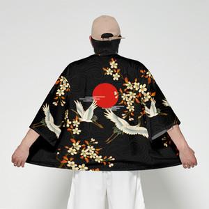 Kimono Japonais Hommes Haori Yukata Mâle Samurai Costume Vêtements Kimono Veste Hommes Kimono Chemise Blouse Obi Vêtements