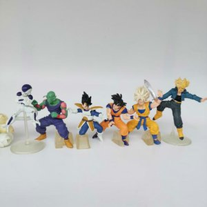 6PCS set Animiation figure capsule toys dragon ball 7-10cm, Assembling doll, Gift ornaments decoration baby toy Y200703