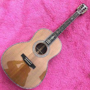 39 inch custom 000 Solid cedar top acoustic Guitar Abalone Ebony fingerboard Guitar acoustic Rosewood back free shipping