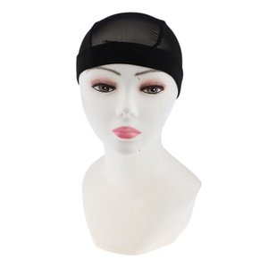 Elastic cupola del costume della protezione della rete della maglia fabbricazione di parrucche Spandex Snood Hairnet nero