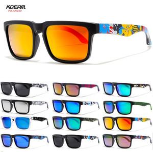 Occhiali da sole polarizzati Uomini 2019 KDEAM Quadrato Stampato Gamba uomo Glass Classic Design Maschio Sport Specchio Sunglass da sole 2501