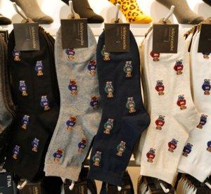 Cartoon signore calzini stampati casuale degli uomini calzino caldo autunno inverno della novità di cotone traspirante calzini 5Pairs / lot