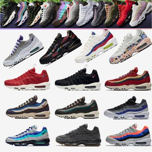 Maxes 95 OG Running Shoes Mens 95s Gold Bred Gym Red Max Classic White Black Casual Sports Sneakers