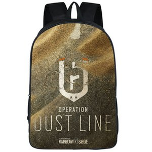 Dust line backpack Rainbow Six daypack 6 operation sand schoolbag Game print rucksack Sport school bag Outdoor day pack