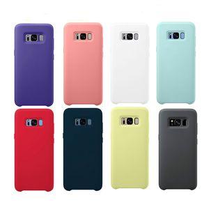 Original líquido Silicone Case Silky Soft-Toque Shell capa para Samsung Galaxy S20 S10 Lite / S10E S8 S9 NOTA 8 9 10 Com Box
