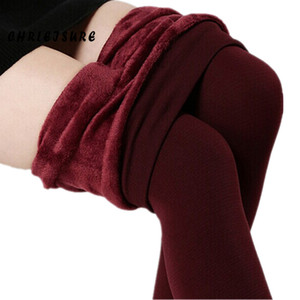 Winter Plus Cashmere Leggings Mujer Casual Cálido Gran Tamaño Faux Velvet Knitted Thick Slim Super Leggings elásticos