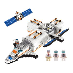 732pcs children Small granule space station Assembling building blocks toys kids boys intelligence toys DIY Gift toys 02