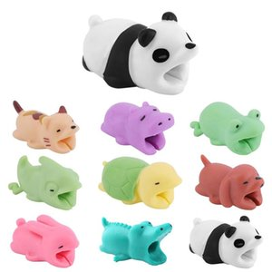Consumer Electronics Cute Bite Cartoon Animal Protector Cord Wire Protection Mini Cover Charging Cable Winder for Smart Phone Cable