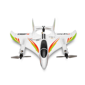 WLtoys XK X450 2.4G 6CH 3D / 6G Avião RC Brushless Motor Vertical Take-off LED Light RC Glider Asa fixa RC Aviões planos RTF