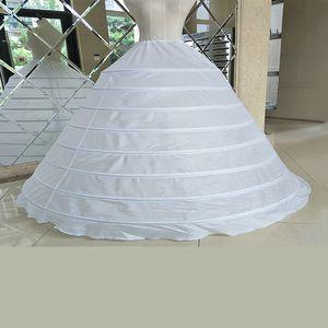 اللباس الكرة بثوب الزفاف التنورة الداخلية الزفاف تحتية قماش قطني 8 هوب تول منتفخ تحتي زلة زفاف Quinceanera فساتين ملحقات