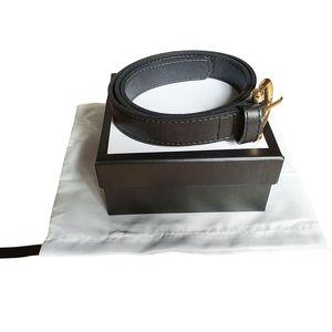Art und Weise Männer / Frauen-Gurt-Frauen-Qualität große Goldschnalle echtes Leder schwarze und weiße Farbe Kuhfell Gürtel für Herren Gürtel freies Verschiffen
