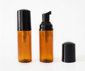 50 ml marrom Espuma Mousse Garrafa Fine Shampoo Loção Recarregável Garrafas de Espuma Da Bomba de Sabão Dispensador de Transporte Rápido SN3261