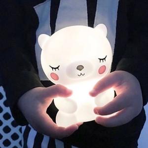 Orso Panda Christomas ha condotto la notte della luce della luce sveglia Animal notte per camera bambini Comodino Soggiorno Illuminazione decorativa regalo dei bambini