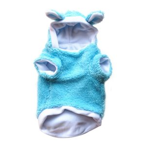 Rabbit Turned small dog clothes winter warm pet Clothing hoodie dog coat jacket pet costumes Teddy Bichon Frise apparel