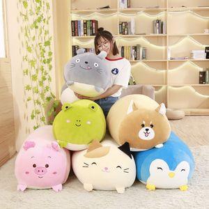 2019Now morbido animale cartone animato cuscino cuscino carino grasso cane cat totoro pinguino maiale rana peluche giocattolo farcito adorabile bambini birthyday regalo