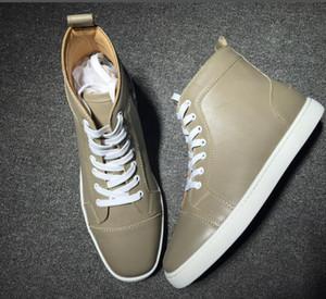 [Scatola originale] Miglior regalo di marca inferiore rossa Uomini Sneakers Rantulow Junior piani degli uomini in pelle di alta all'aperto Trainer casuali delle scarpe delle donne