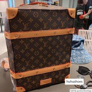 brang Brands M44752 SOFT TRONCO homens de couro mulheres mochila bolsa grande siz