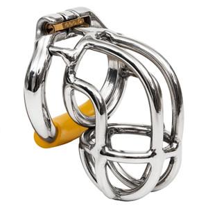 Ergonomique en acier inoxydable furtif verrouillage Male Chastity Device Cock Cage, Fétiche Virginité pénis Lock, Cock Ring, Ceinture de Chasteté, S056