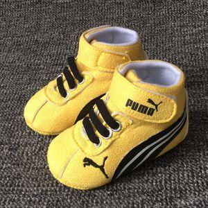 Zapatos de bebé Primeros andadores amarillos tela infantil de algodón zapatos de niña zapatos de suela suave recién nacido bebé niños calzado