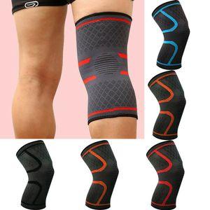 Elastische Kompression Hülse Knie-Stützklammer Knieschützer Basketball Laufen Knieschutzhülle