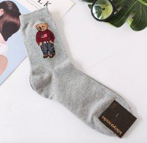 2019 Pamuk Erkek çorapları Harajuku Gentleman Ayı Harajuku Çorap 5 Çiftler kaykay / Düğün Noel için Erkekler için çok Çorap