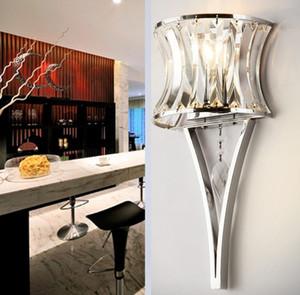 Crystal Wall Lamp Modern Modern Fashion High-end atmosferico Personalizzato Wall Corridor Scala Passaggio Europeo di lusso Crystal Wall LLFA
